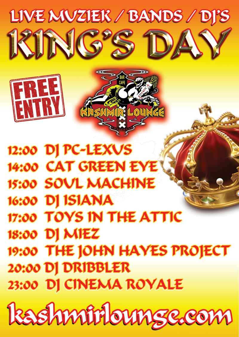 kings day lineup